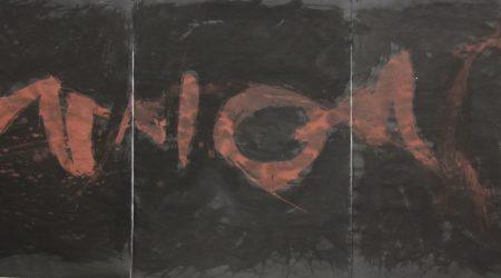 IMG_8942, Tusche, Tempera auf Papier, 62x144, 1988