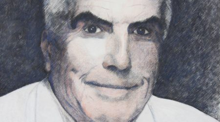 Portrait gezeichnet, von Peter Manhalt
